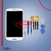 Pour Samsung Galaxy S3 blanc i9300 LCD avec affichage d'écran Touch Digitizer Assembly Outils de remplacement des pièces