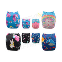 4 pieces lot Position Printed Cloth Diaper Nappy Girls Reusa...
