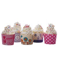 wholesale baking cups round bucket paper cake muffin case heat resistant cupcake cake holder wrappers cartoon cake decorating supplies - Wholesale Cake Decorating Supplies
