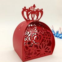 Laser cut red favor box wedding box favor baby shower party ...