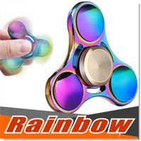 2017 Le plus récent Hotting Rainbow Colors spinners à main En alliage de titane EDC Hand Fidget Spinner High Speed ​​Focus Toy Gift High High Speed ​​4-7 Min