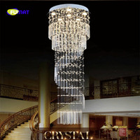 Modern Double Floor Staircase Chandelier Spiral Stair Lamp L...