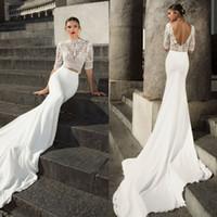 Julievino 2017 Mermaid Lace Wedding Dresses Appliques Backle...