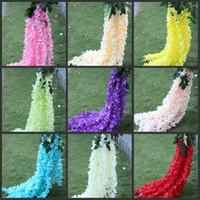1. 4 Meter Long Elegant Artificial Silk Flower Wisteria Vine ...