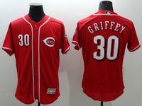 2016 Flexbase Stitched Baseball Reds Jerseys #30 Griffey #19...