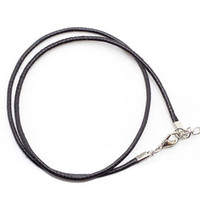 100pcs lot Diameter 2mm PU leather chains necklace for dog t...
