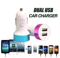 Metal Dual USB Port Chargeur voiture 2.1A Universal pour iPhone 7 Plus 6 6s plus iPod iPad Samsung S7 Edge Sony HTc