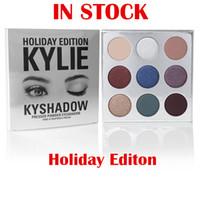 Ombre à paupières Kylie Holiday Edition Ombre à paupières pressée Kylie KyShadow La paillette de Noël 2016 de vacances Ombre à paupières de 9 couleurs!