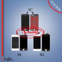 Ecran LCD Ecran tactile Digitizer Montage complet pour iPhone 5G 5S 5C pièces de rechange de réparation Livraison gratuite