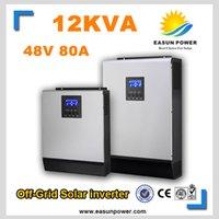 Промотирование Солнечный инвертор 12Kva 9600W Вне сетки Инвертор 48V до 220V 60A MPPT Чисто инвертор синусоидальной волны 60A Зарядное устройство AC