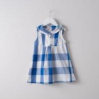 Everweekend Girls Western Plaid Cotton Dress with Beading Su...