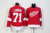 Detroit Red Wings # 71 Дилан Ларкин Главная красный Джерси Недорогие мужские трикотажные изделия хоккея Сшитые Хоккей Униформа высокого качества Спортивная одежда