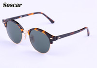 Soscar Authentic Round Sunglasses 2017 New Arrival Men Women...