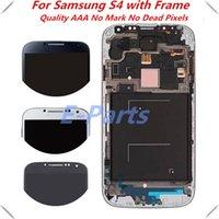 Pour Samsung Galaxy S4 Pas de Mark No Dead Pixel I337 I545 I9500 I9502 I9505 E300K E300S Ecran LCD Ecran tactile Numériseur avec cadre Assemblage