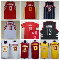 13 James Harden Jersey Hommes Arizona State Sun Devils Collège James Harden Maillots de basket-ball Remplacer Chinois Rouge Blanc Bleu marine