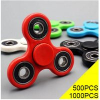 Cheap 500pcs HandSpinner Fingertips Spirale Fingers Fidget Spinner EDC Hand Spinner Acrylique Plastique Fidgets Jouets Gyro Toys With Retail Box