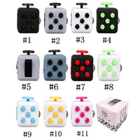Magic Fidget Cube Anti-ansiedad Cubos de descompresión Juguete Adultos Stress Re lief Niños regalo de juguete 11 colores