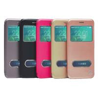 PU cuir Iphone cas téléphone cas téléphone couverture protecteur aimant téléphone stand suppoter avec fenêtre intelligente Pour Iphone 6/7