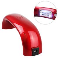 Мини Радуга ногтей лампа 9W светодиодные лампы PK алмазов мост Shaped Отверждение Сушилка для ногтей ногтей машина Art Lamp Уход за УФ-гель USB-кабель