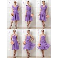 Beautiful Convertible Knee Length Cheap Bridesmaid Dresses F...