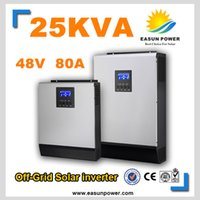 Горячее надувательство солнечного инвертора 25kVA 20KW 48V к 220V / 380V с инвертора сетки 80A MPPT чисто инвертор 60A волны синуса инвертора