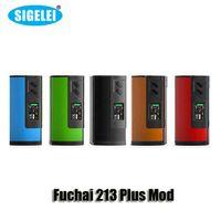 100% Original Sigelei Fuchai 213 Plus Boîte TC Mod VW 213W Batterie 18650 batterie avec écran OLED