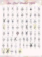 Mix Style Hot Sale 18kgp Mode aimer souhaiter des perles de perles / pierres gemmes caisses de pendentifs Pendentifs, bricolage Collier pendentif pendentifs pendentifs 100pcs / lot