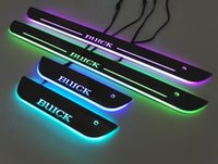 Buick Colorful LED Moving Door Sill Scuff Plate Welcome ligh...