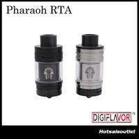 Authentique Digiflavor Pharaoh RTA 4.6ml BAF Système d'écoulement angulaire supérieur Disques interchangeables Derlin Drip Tip Atomizer by Rip Trippers