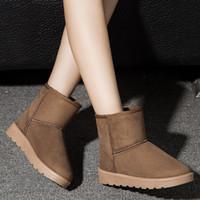 5 cores 2016 inverno neve botas mulheres mais crosta grossa Martin botas laço rua clássico quente de algodão botas mulheres sapatos baixos