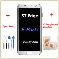 1Pcs Pour Samsung Galaxy S7 Edge G935 G935F G935A G935FD G935P Lcd numériseur Displaiy Screen Assembly + S7 3D film de verre trempé + Outils