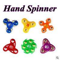 6 дизайнов Пластиковая ручка Spinner Второе поколение пальцев Спиральные пальцы Gyro Torqbar Fidget Spinner Декомпрессионные игрушки CCA5844 200шт