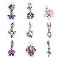 Perles Fit Pandora Charms 925 Perles en Argent Sterling Charms Avec Cristal Pour Pandora Charms 925 Ale Bracelet MIX Style