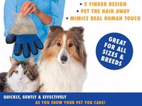 True Touch Deshedding Glove For Dog Cat Rubber Soft Dog Hair...