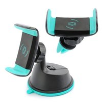 2 en 1 Mini Air Vent Car Mount Holder Pare-brise 360 ​​Rotating Sunction pour téléphone portable iphone Samsung S8 GPS