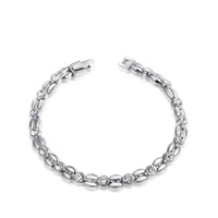 Platinum Grain Tennis Bracelet Pour Femmes Luxe Bridal Rhinestone Chaîne Bracelet Gros Tennis Jewerly Hand Chaîne 2060801470