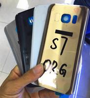 A + Qualité Original S7 Note5 S6 bord arrière Boîtier Porte batterie avec autocollant adhésif pour Samsung Galaxy S6 edge + s7 edge note 5