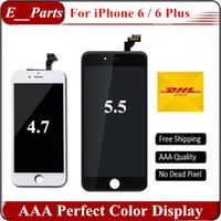 Pour iPhone 6 iPhone 6 Plus LCD Qualité AAA + Ecran Touch Digitizer Ecran complet avec châssis Montage complet Remplacement Strong Frame