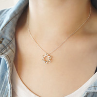 S925 Silver pentagram necklace Do not fade Prevent allergy C...