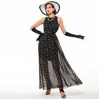 Fashion Women' s polka dots Maxi dress long Casual Summe...