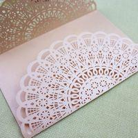 Romantic winter invitations laser cut vintage invitations we...