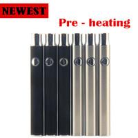 Préchauffage batterie tension variable 350mah cbd vs vapeur tactile O plume tension variable 4.1-3.9-3.7v préchauffage CBD huile vaporisateur de la batterie