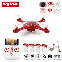 SYMA X5UW FPV RC Quadcopter WIFI Caméra HD Mobile Contrôle Chemin de vol, hauteur Hold, une clé Land 2.4G 6 axes hélicoptère VS X5UC