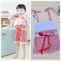 Baby Girls Overall Rompers Jumpsuits Toddlers Princess Plaid...