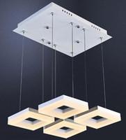 Креативный дизайн Столовая 4-6 sqares современные подвесные светильники водить кабинет свет чтения офисе под Lamparas коммерческое освещение LLFA