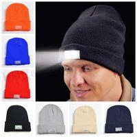 Unisex LED Beanies Lighted Sports Knit Hat Led Skull Cap Bea...