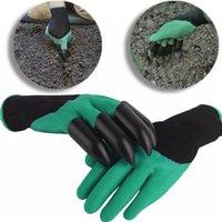Gants de jardin pour creuser Plantation avec 4 griffes en plastique gants de jardinage façon facile au jardin gants de jardin étanches Gardenie 300pair KKA1420