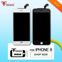 Blanc Noir Pour iPhone 6 Ecran LCD 4,7 pouces Écran tactile + Écran trempé Étui à froid Appuyez
