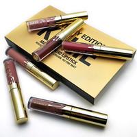 2017 NUEVO oro Kylie Jenner lipgloss cosméticos lápiz labial lápiz labial Mini Leo Kit Lápiz Cumpleaños edición limitada con embalaje de oro al por menor