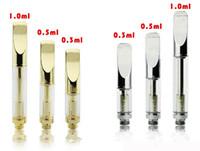 Pyrex Cartouche en verre doré et CE3 atomiseur vaporisateur stylo cartouches double bobine 92a3 pour épaisseur CBD THC fit broche bouton batterie huile